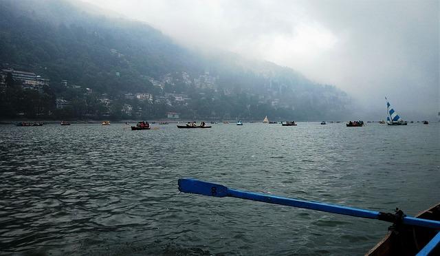 Nainital Lake in Nainital, India
