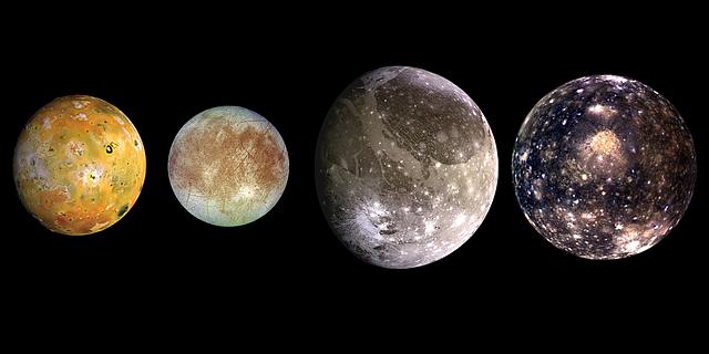 Jupiter largest satellites