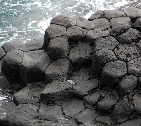 Volcanic basalt rock