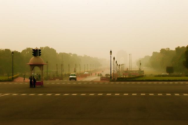 New delhi fog
