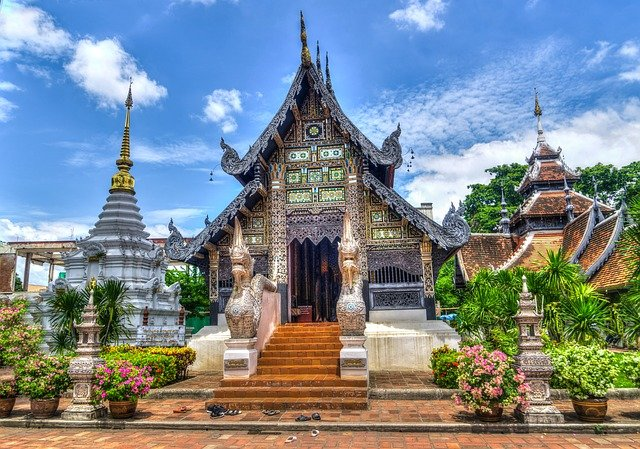 A temple in Thailand, the second most visited Asian country
