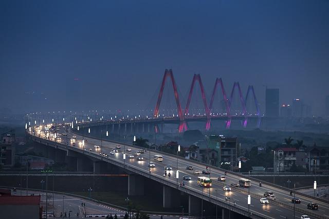 A bridge in Hanoi, Vietnam