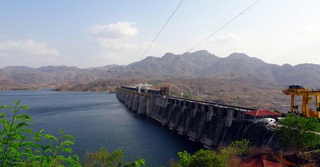 A picture of Sardar Sarovar Dam, a concrete gravity dam in India
