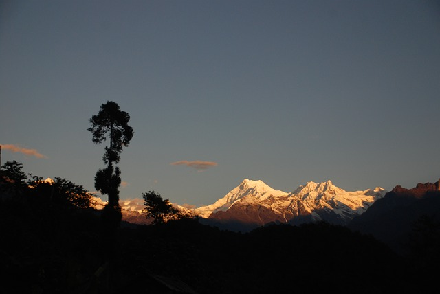 A photo of Kanchenjunga peak, the highest peak in India (not considering the disputed regions)